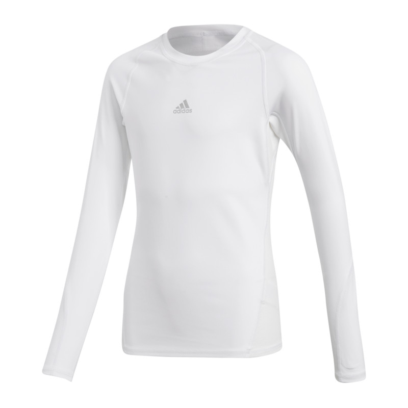 Adidas Alpha Skin Shirt Long Sleeve Kids White