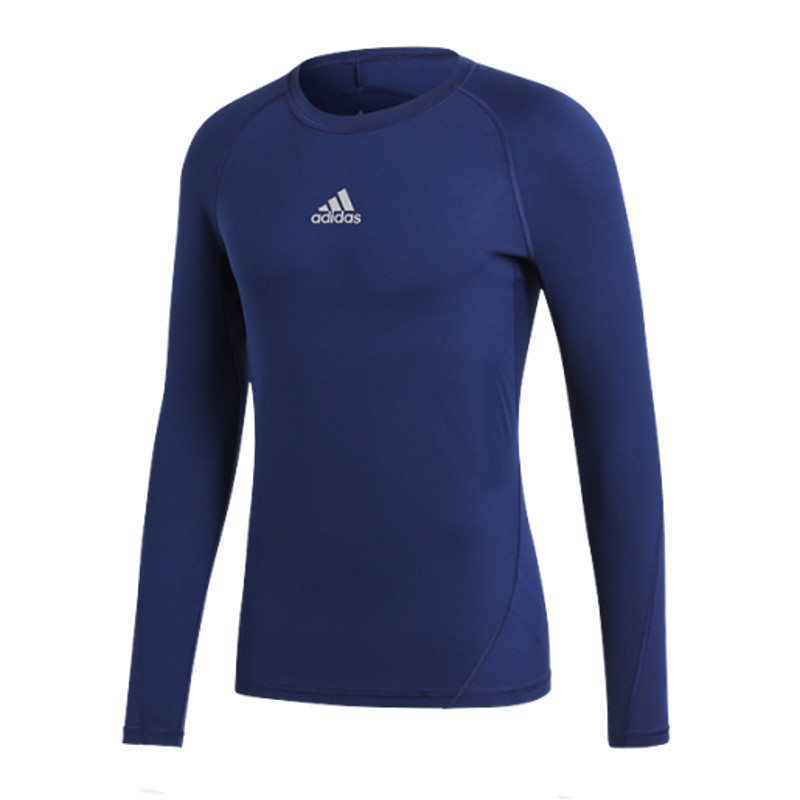 Adidas Alpha Skin Shirt Long Sleeve Kids Dark Blue