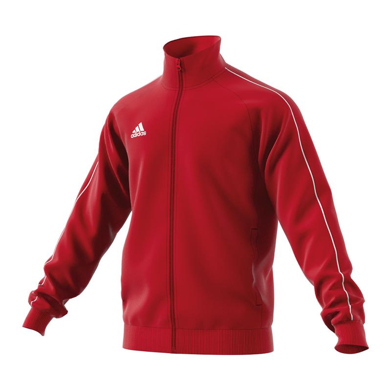 adidas Training Jacket Core 18 PES Men Zip Pockets XS X Small Red ... 8c7b0b15a0