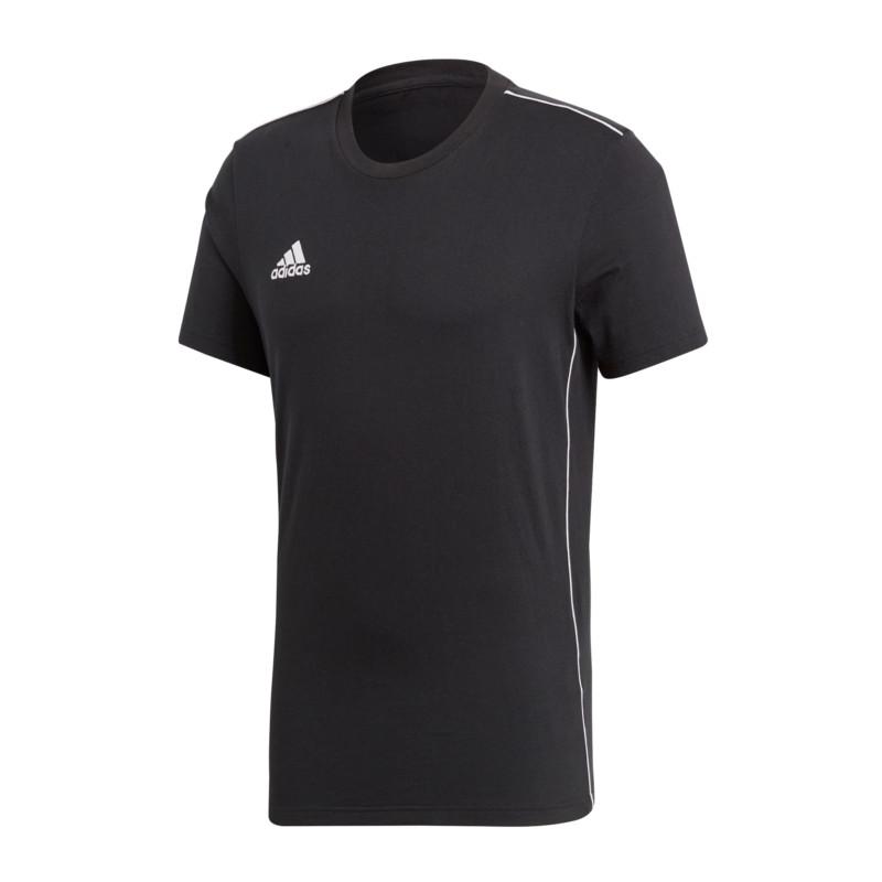 premium selection b86a5 fe293 adidas Core 18 Tee T-shirt Black White M