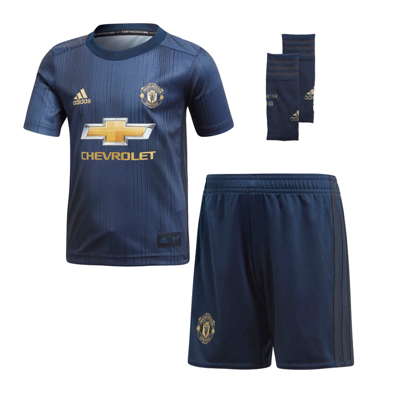 a15c390a5 adidas Manchester United 2018 19 Kids Junior Mini Third Football Kit ...