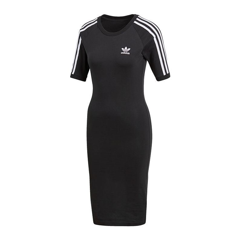 adidas 3 Stripes Dress Vestito Donna NERO 36 Black. About this product.  Picture 1 of 3 ... f7405a55891