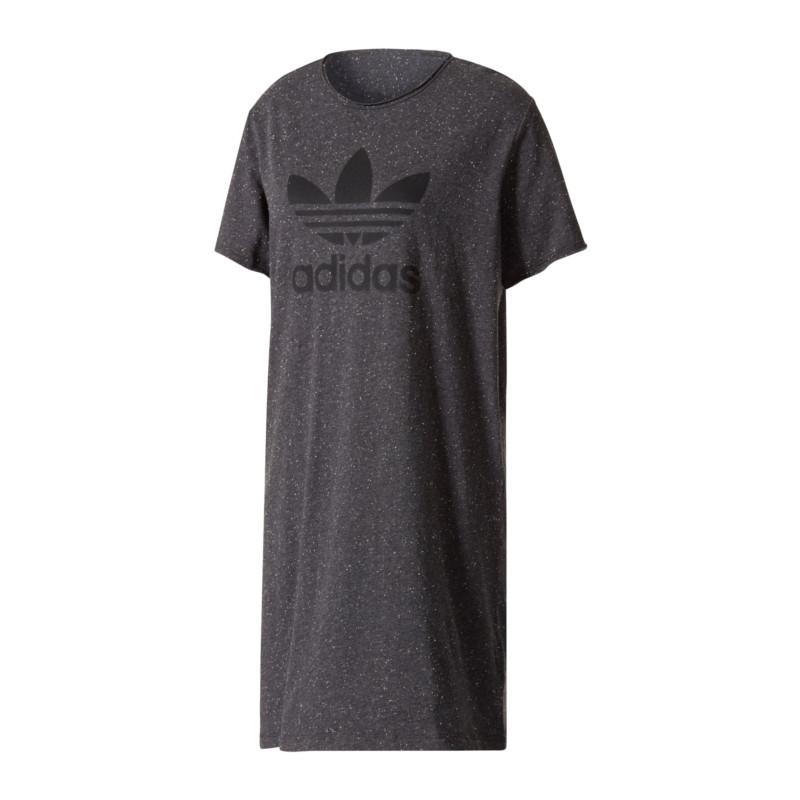 Adidas t shirt kleid schwarz