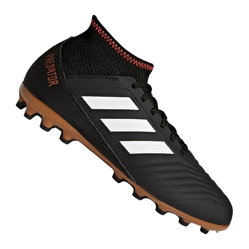 buy online a1067 afbea Adidas Predator 18.3 Ag J Niños Negro Blanco