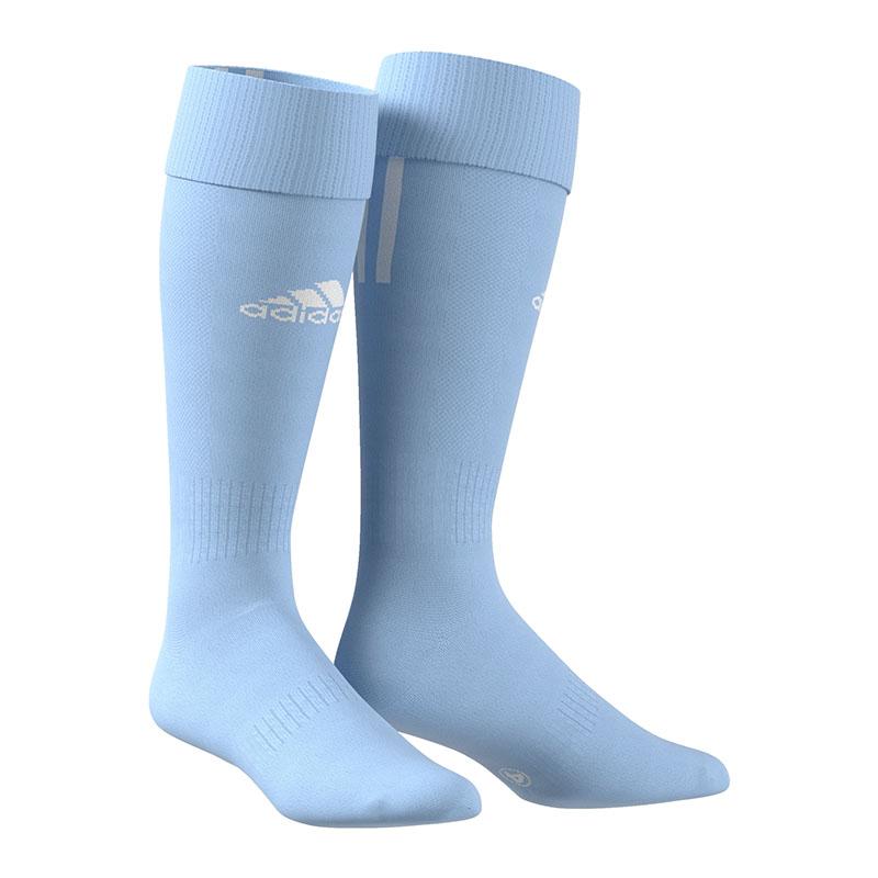 972ea0d17 adidas Santos 3 Stripes Knee Socks Light Blue 2 ( 37-39 ) for sale ...