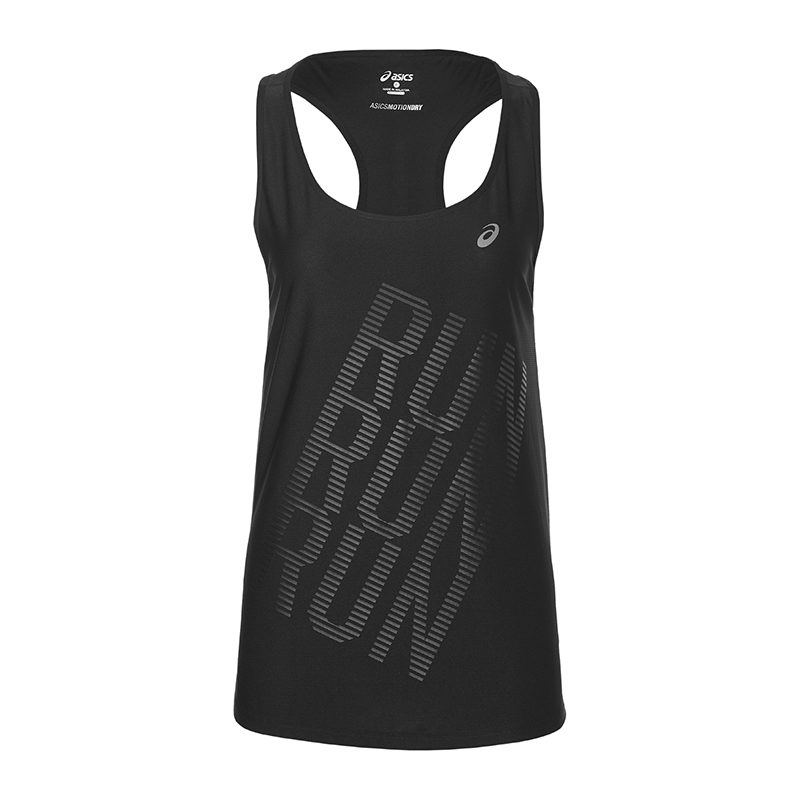 Asics Graphic Tank Top Running Women's Black f0904. Picture 1 of 3 ...