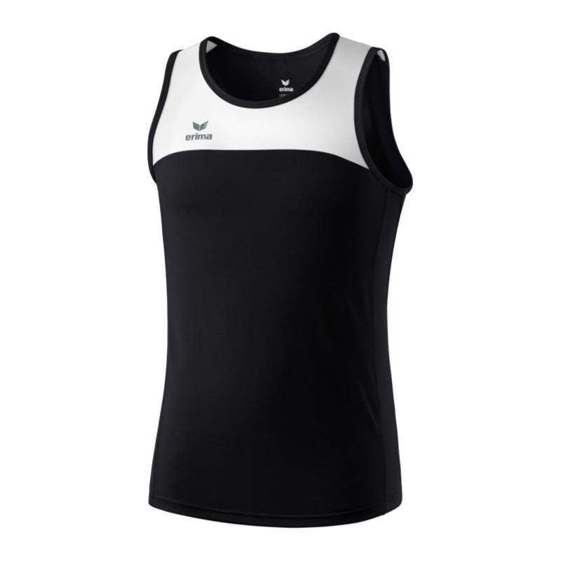d9a4d849 Erima Race Line Running Singlet -828500 Black / White L   eBay