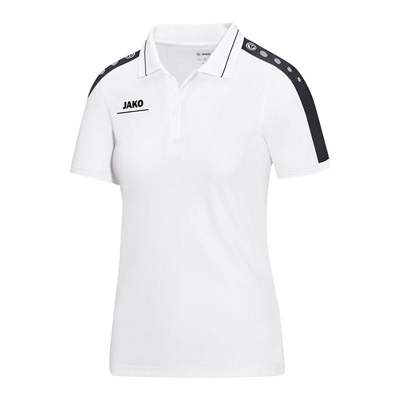 Jako Polo Striker Herren weiß//schwarz Poloshirt Shirt T-Shirt Sport Fitness