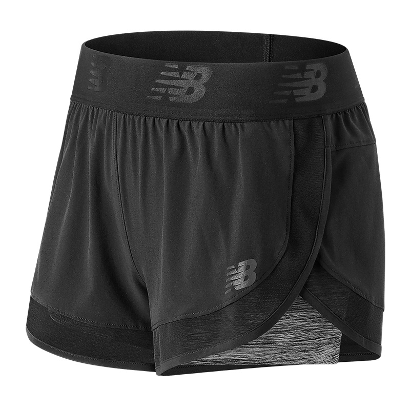 New Balance ws71120 Mixed 2 in 1 Shorts Ladies F83