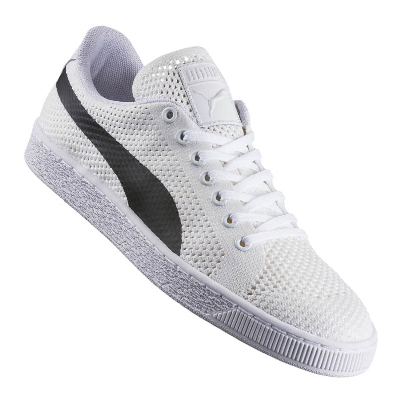 1786dc32ed3 PUMA Basket Classic EVO Knit Sneaker White F02 42 5 for sale online ...