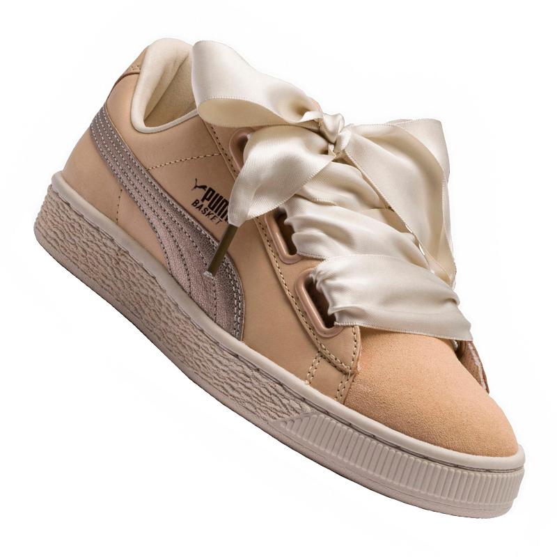 best website bb424 e3aed PUMA Basket Heart up Sneaker Women's Beige F01 37 5