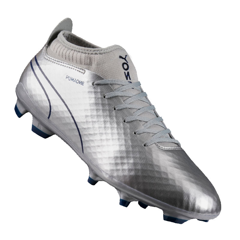 PUMA One Chrome 2 FG Silver Blue F01 42  41821f97f0
