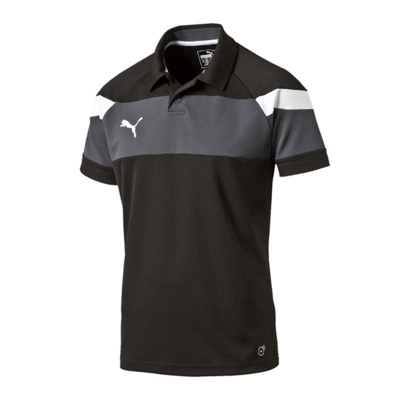 Puma Spirit II Polo Shirt Black White F03 ...