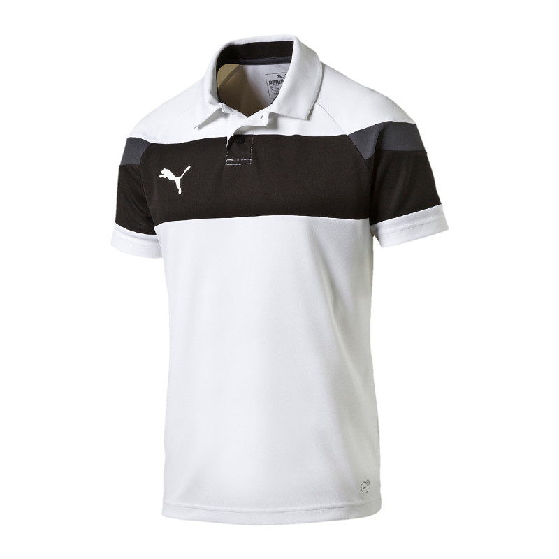 Puma Spirit II polo shirt white black f04. Picture 1 of 2 ...