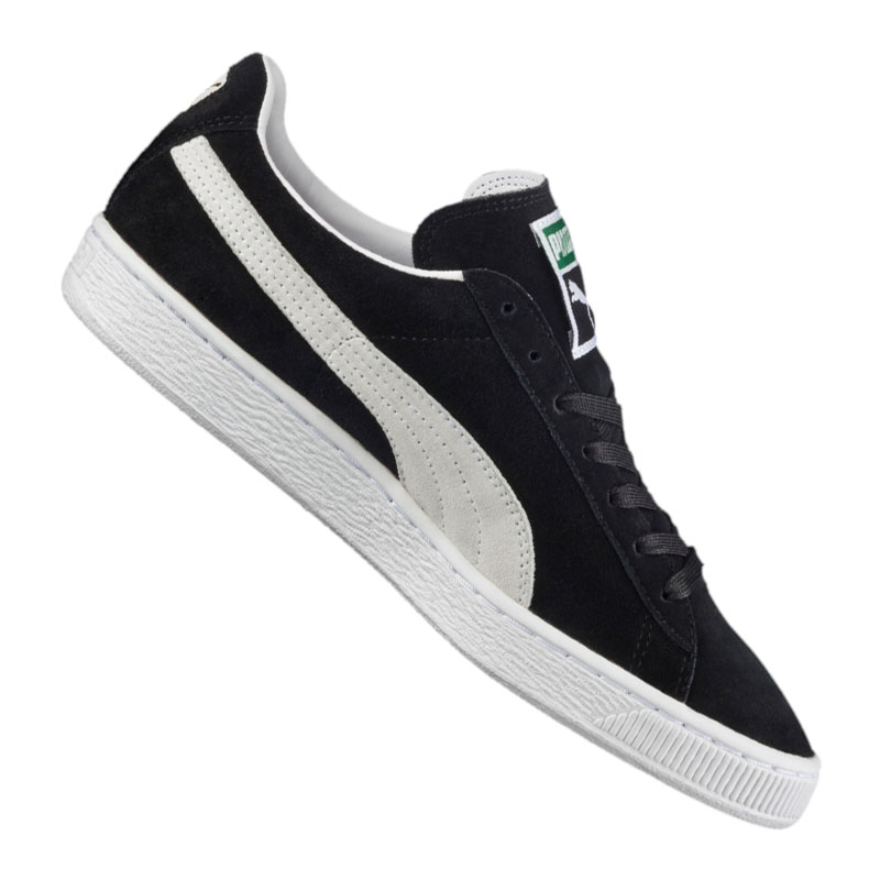 Chaussures Homme Puma Schuh Suede Classic+ NoirBlanc pour