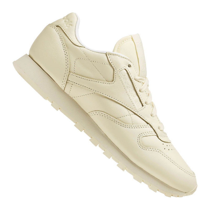 buy popular b4603 6dc58 Reebok Classic Leather Pastels Womens Trainers Pastel Yellow Shoes 4 UK